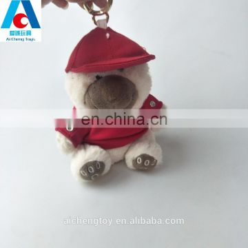 Lovely stuffed plush teddy bear toys with hat and t-shirt
