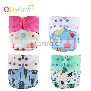 Elinfant Adjustable & Washable fashion baby nappy Coffee Fiber Baby Cloth Diapers