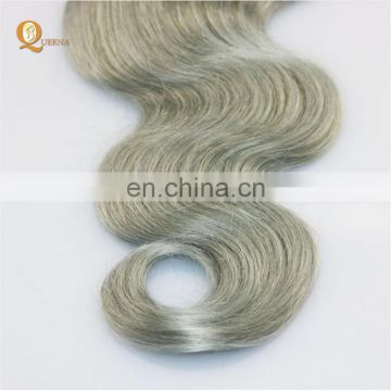 Top Quality Factory Hair Extensions Gray Human Hair Gray Hair Weave