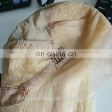 Factory Price 613 Blonde Full Lace Human Hair Wig with Baby Hair