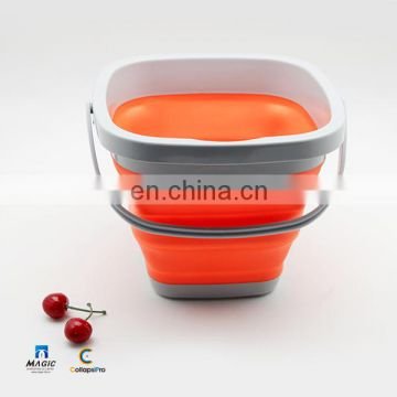5L Square Collapsible Plastic Bucket