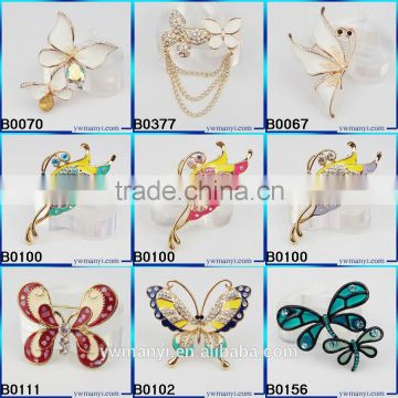 Yiwu City Wholesale Fashon Plaza Women`s Flower Wreath Brooch Cubic Zircon Pin Brooch B0468