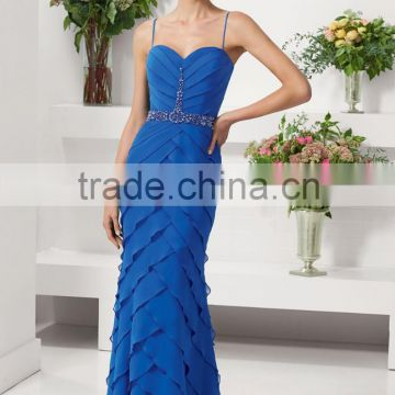 HA-008 2015 Graceful Sweetheart Spaghetti Straps Celebrate Dress A-Line Ruffles Beaded Prom Quinceanera Dress