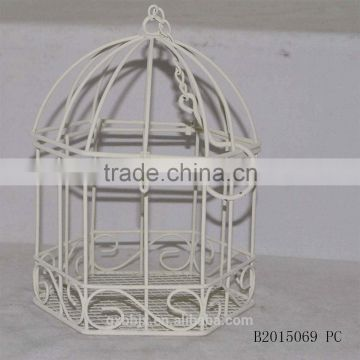 Metal wire bird cage with hanging hook