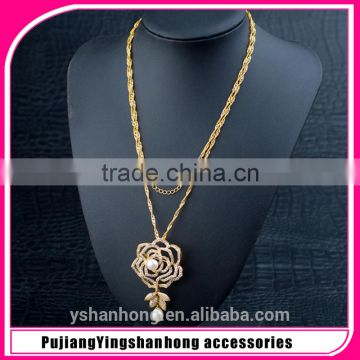 d23eff06e Wholesale Natural pearls 925 Silver Jewelry Women Micro Pave CZ Shiny One  Stone Flower Necklace of jewelry accessories from China Suppliers -  144811558
