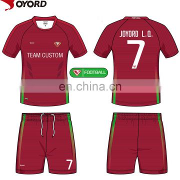Custom cheap sublimated soccer jersey for team customized
