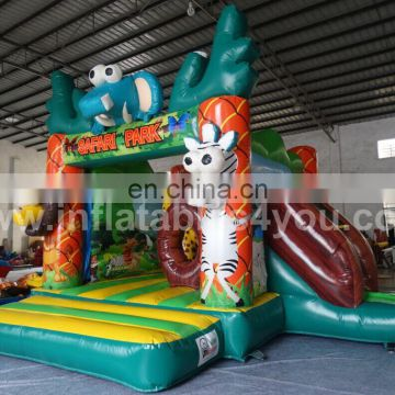 Colorful zoology theme inflatable combo for sale