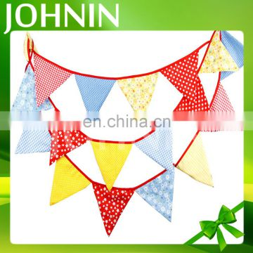 Promotional sport decoration PVC(PE) fabric customized pennant banner