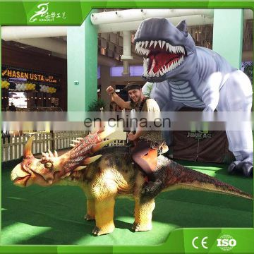 Theme park animatronic dinosaur products kiddie rides of China manufacture