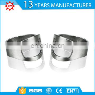 factory manufacture finger ring stainless steel bottle opener