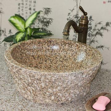 Yellow Granite Sinks,China G682 Granite Wash Basins, Nature Stone Bathroom Sinks