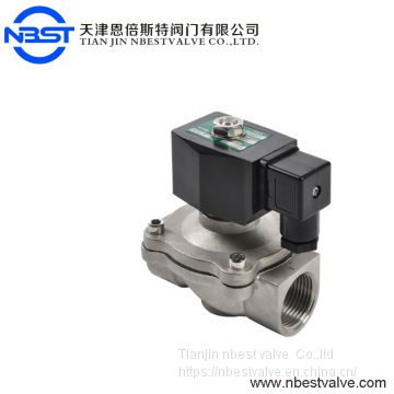 2W21-SS-25 1inch 25mm stainless steel water solenoid valve AC220V 120V