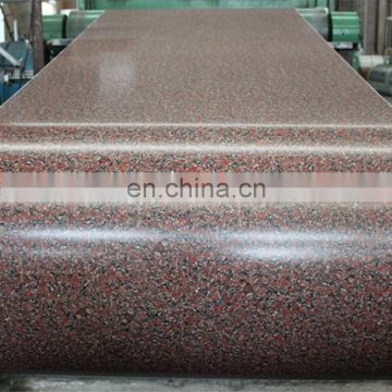 Wanteng steel factory pattern color coaed galvanized plate  PPGI/PPGL factory wholesale customizable Stone pattern