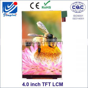 ILI9806E driver IC tft 4 0 inch mobile lcd screens of 4