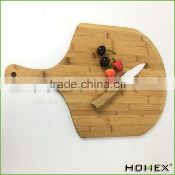 Bamboo Cutting Boards FDA Paddle Shape Pizza Board Homex BSCI/Factory