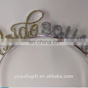 Bachelorette Party Tiara Headband Hen Party Decorations Bride Squad Tiara and Sash Kit