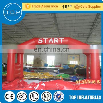 Commercial christmas arch finish line inflatable advertising with EN14960