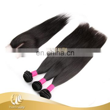 Hot Sale Hair in Alibaba Sample Order is Available, Virgin Brazilian Straight Human Hair Extension