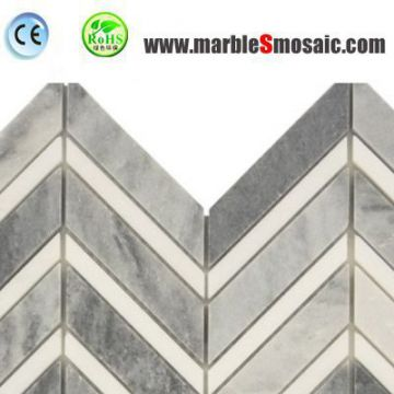 Bathroom Chevron Marble Mosaic Tiles