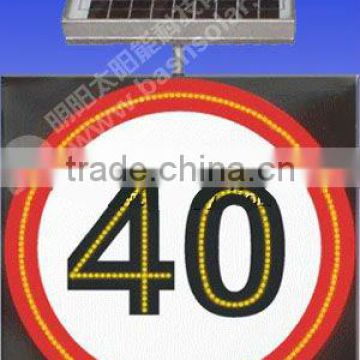 solar traffic sign, auto recharge and lighting