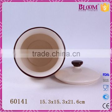 Factory direct sale ceramic decal desgin sugar pot