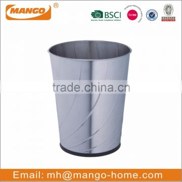 Hot Sale Novelty Open Top Stainless Steel Trash Can