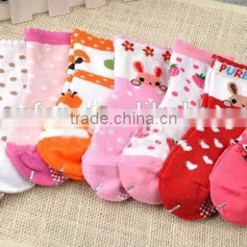 100%cotton cartoon anti-slip children socks