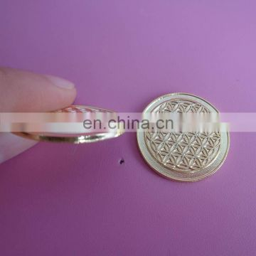 Wholesale custom souvenir flower of life metal coin