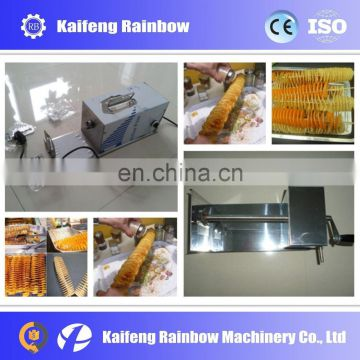 2016 Spiral potato chips cutting machine/potato cutter with low price and high efficiency