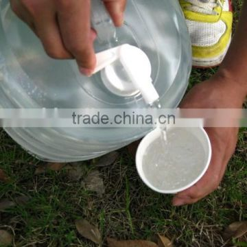 Camping hiking plastic folding outdoor water bucket