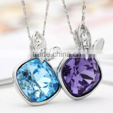 F.Y.L jewelry genuine playboy crystal necklace 2012 new Korean version of a short section of gifts