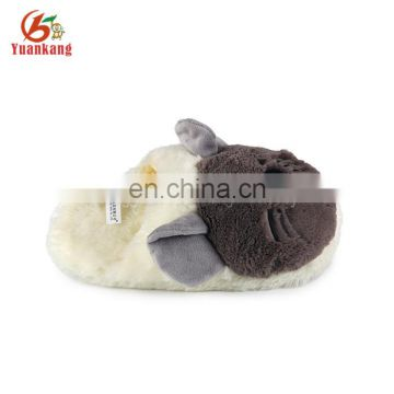 custom indoor plush animal shaped mouse fluffy slippers for kids