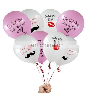 "bachelorette party favors 12"" latex balloons"