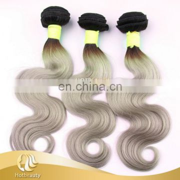 2016 New arrival Gray color Brazilian human hair extentions