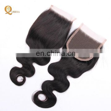 Queena Hair Brazilian Virgin Hair Lace Frontal Closure Silky Base 4*4 Free Part Lace Closure Brazilian Body Wave Closure