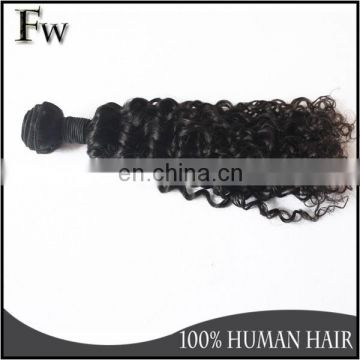 Top quality malaysian hair all types of weavon no tangle no shedding grade 7a short remy jerry curl human hair weave