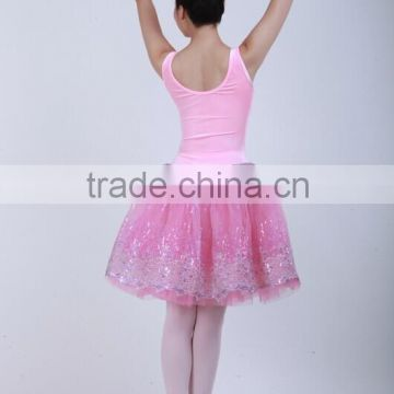 Cheap sequins yarn tank long lyrical sex fluffy tutu skirt for adult ballet dance dress costumes D032007