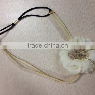 2014 New design hair bands with big flower for beautiful girls