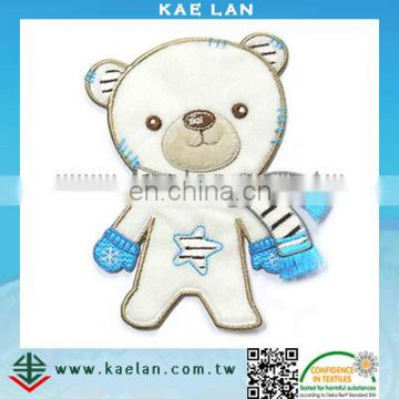 Cartoon toy bear teddy embroidery design patch for kids clothes