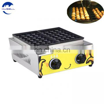 3 Pans Gas Takoyaki Machine With 84 Holes