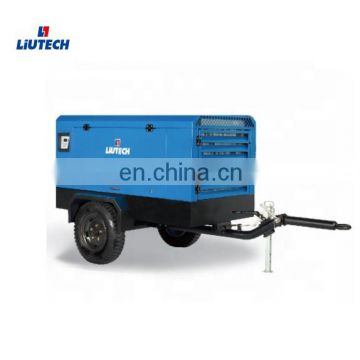 Moving convenient mobile ingersoll rand 2340 compressor for air DTH drilling