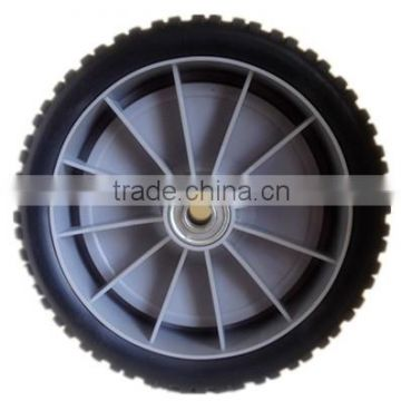 8 inch lawn mower plastic wheel for garden cart, garbage bin