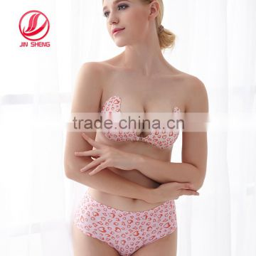 Guangdong new design v style side wing air breathable bra set