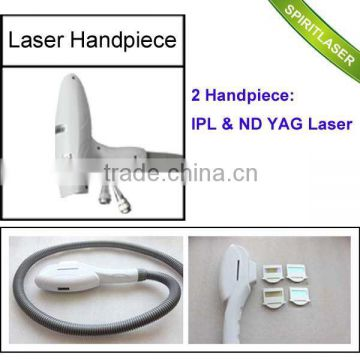 Powerful 10.4 Inch 2 in 1 IPL ND YAG Laser CPC Connector mini yag laser machine face Movable Screen