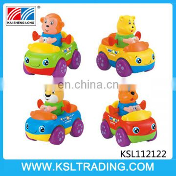 Good quality small toys kids friction power cartoon car for sale