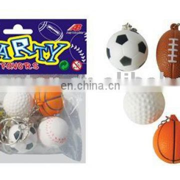 6pack sport ball w/key chain,promotion gift