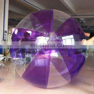 Purple+transparent water Inflatable ball