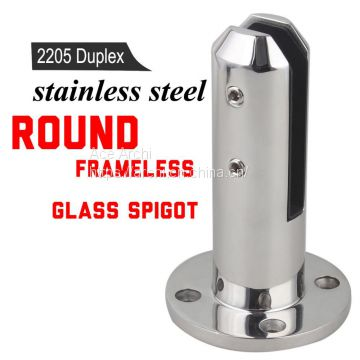 Glass Fence Spigot / Frameless Glass Pool Fence Stainless Steel Spigot