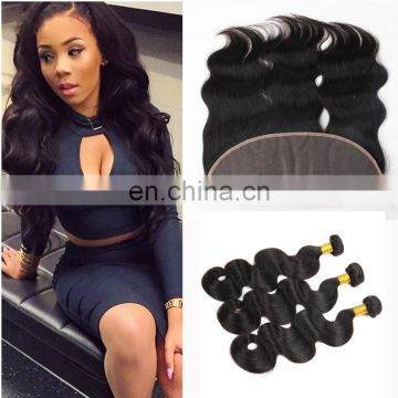 brazilian water wave hair extensions ear to ear lace frontal lace closure with bundles