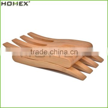 Hot Sale Eco-friendly Custom Bamboo Salad Hands/salad serving tools/Homex_Factory
